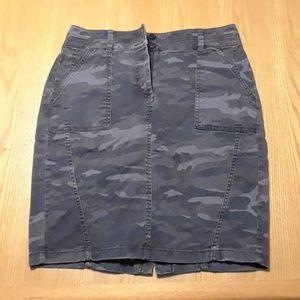 Loft Petites Camo Pencil Skirt